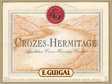 Crozes hermitage label